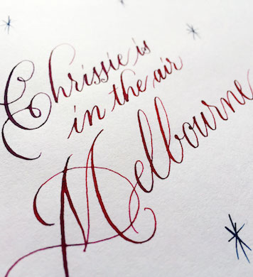 Festive Copperplate Calligraphy