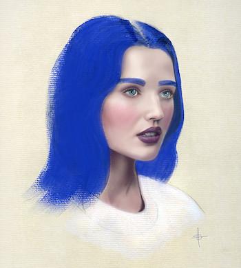 Mixed Media Portrait Illustration