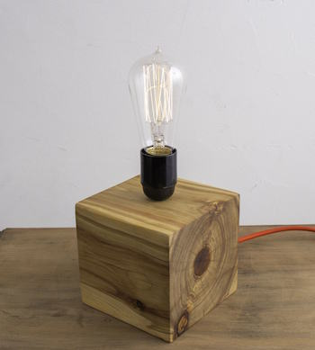 Upcycled Wood Cube Lamp Workshop