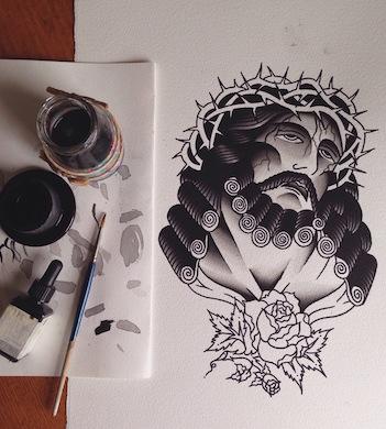 Traditional Tattoo Flash Illustration