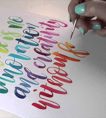 Watercolour Brush Lettering @ Bondi Pavilion