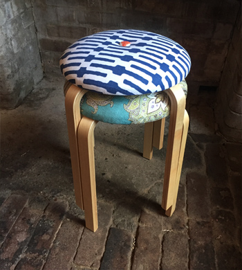 IKEA Hacks: Upholstered Stools