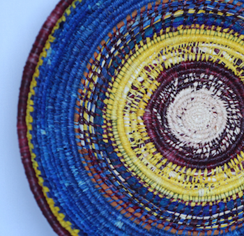 Mixed Fibres Basket Weaving
