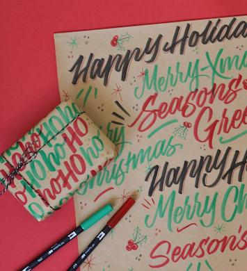 Brush Lettering – Christmas Edition