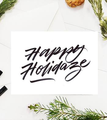 Hand Lettering : Christmas Edition!