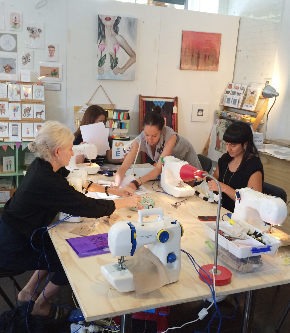 Learn to Sew at The Makery: Make a Velvet Cushion