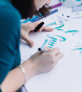 Lettering With Watercolour