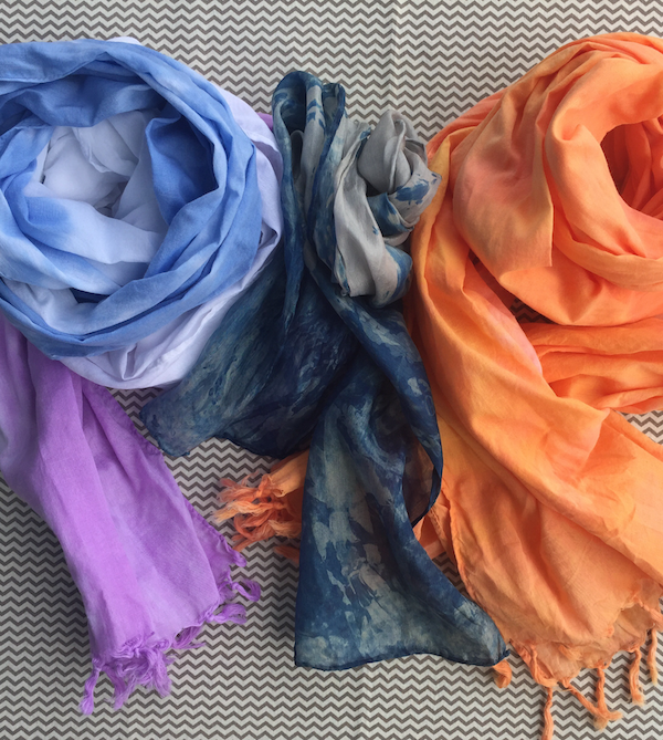 Low Immersion Colour Dyeing: Scarf!