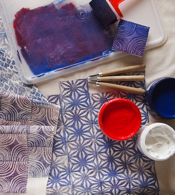 Intro to Block Printing on Fabric