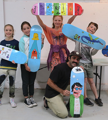 Kids Skate Deck Art Workshop