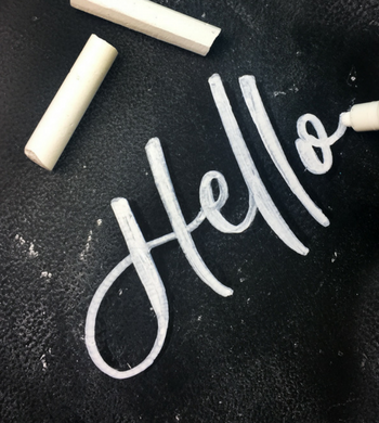 Beginners Guide to Chalk Lettering