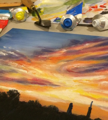 Intro to Oil Painting – Paint A Sunrise