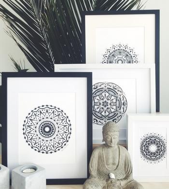 Monochrome Mandalas for Mindfulness