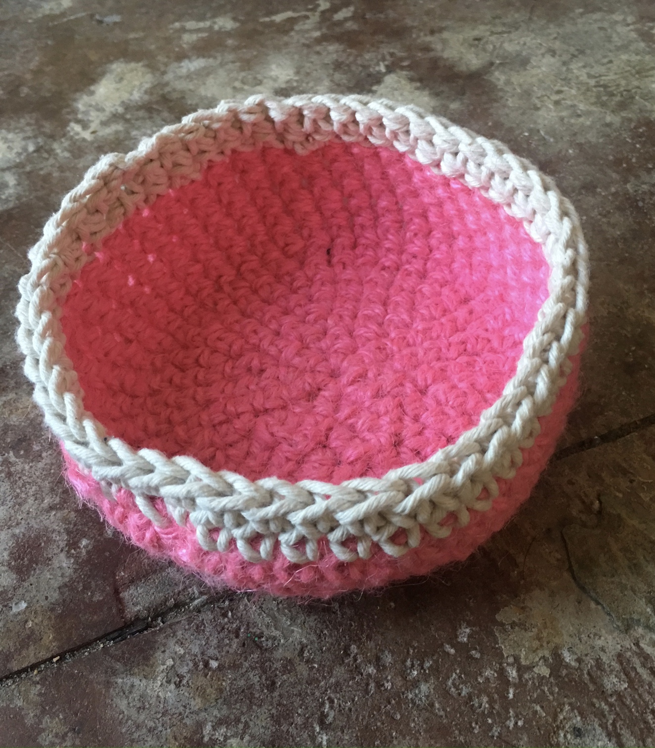 Learn to Crochet at The Makery: Make a Crochet Bowl