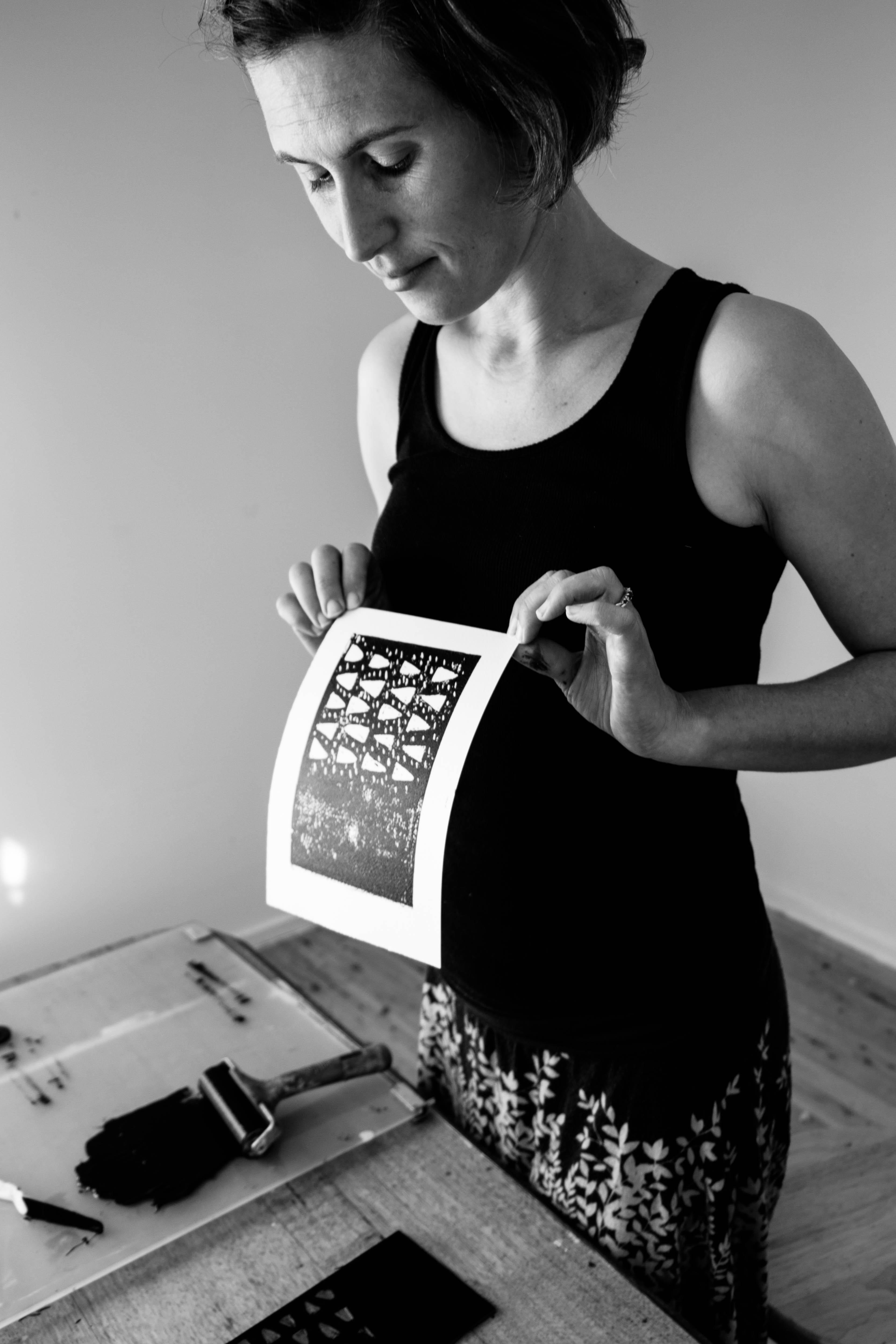 Lino Cut Printing