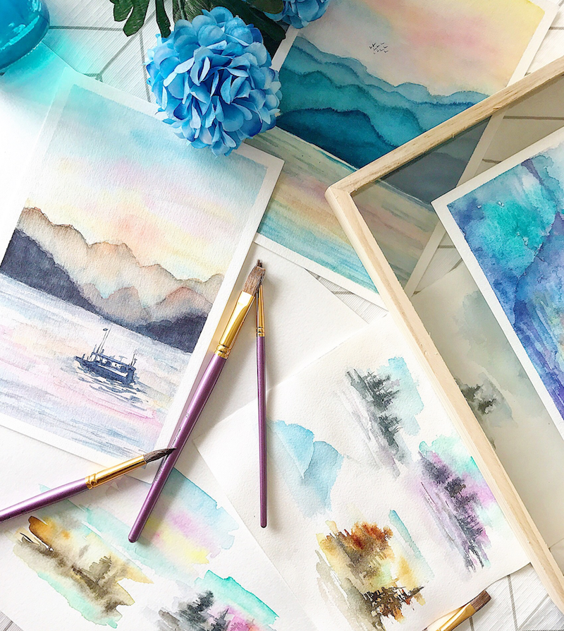 Dreamy Landscapes in Watercolour