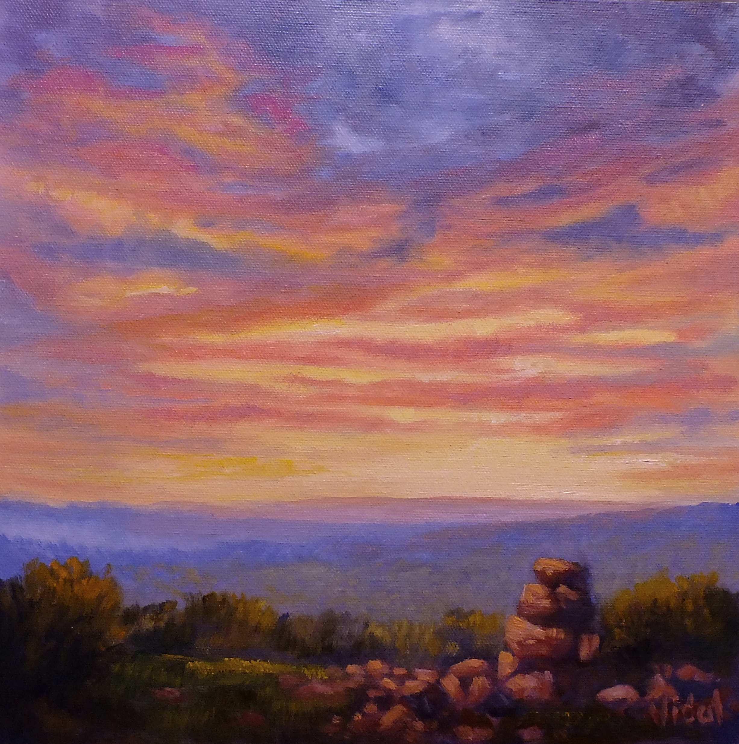 Sunset Sky- Oil Painting for Beginners