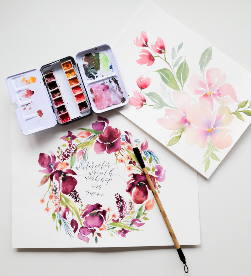 Free-Hand Florals in Watercolour with Alina Koo