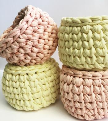 Crochet a T-Shirt Yarn Basket!