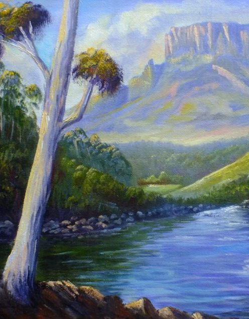 Water Reflections- Oil Painting For Beginners