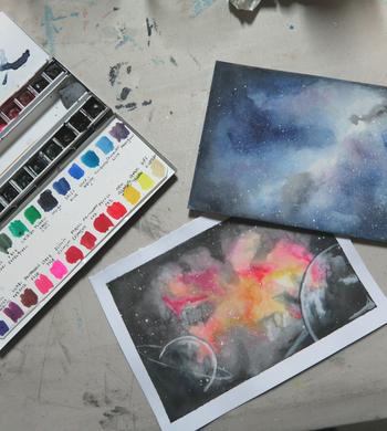 Galaxy Watercolour Painting