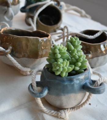 Hand Built Ceramic Planter Pots