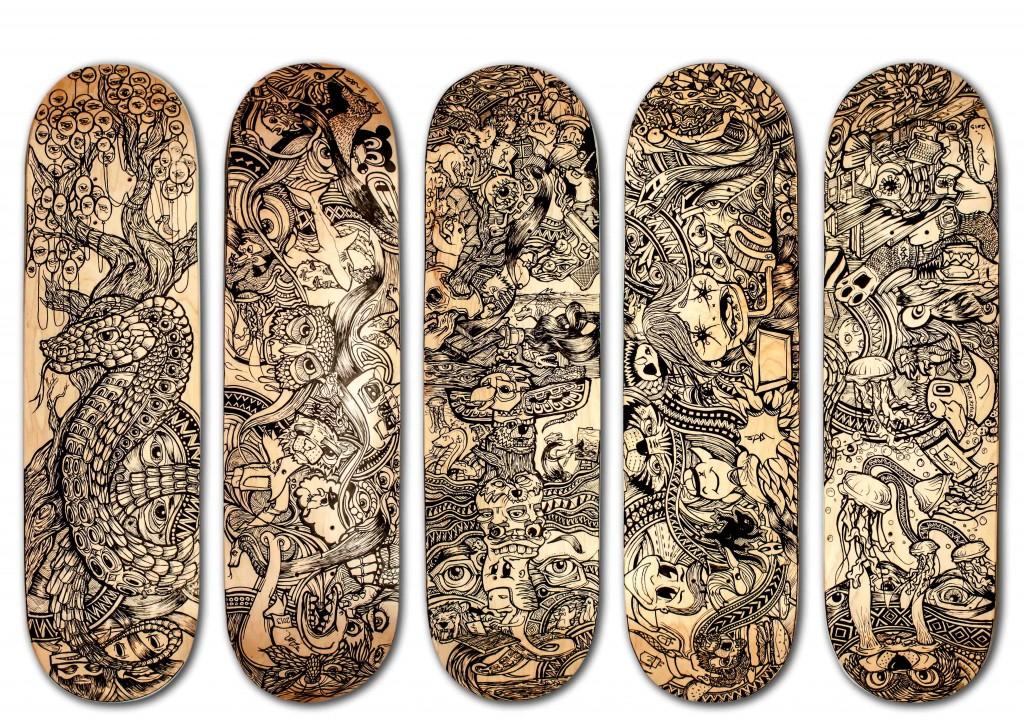 UD3 Boards-handmade-handpainted-hand-painted-sam-shennan-ud3-skate-skateboard-custom-graphic-ink