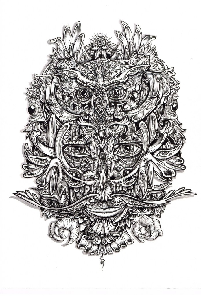 owl-1500-samshennan-sam-shennan-ud3-illustration-drawing-detailed-hidden-gnome-black-white-ink-tatoo
