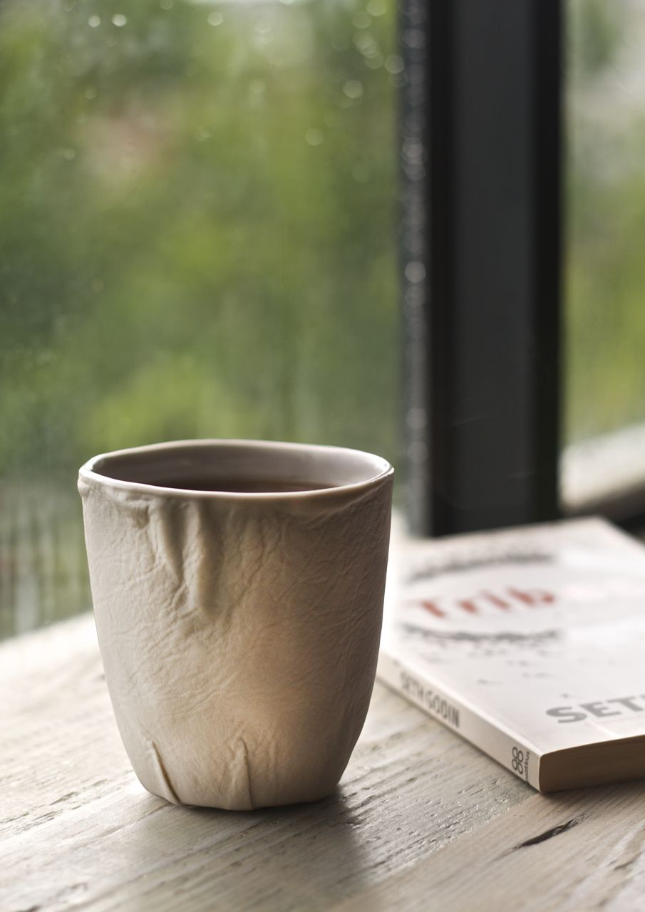 TABAK 'Leather Series' latte cup