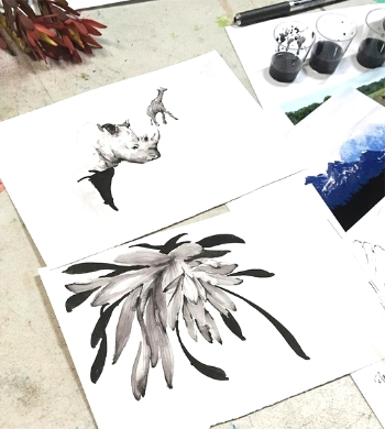 Sketching In Ink: Artist Masterclass with Simon O'Carrigan