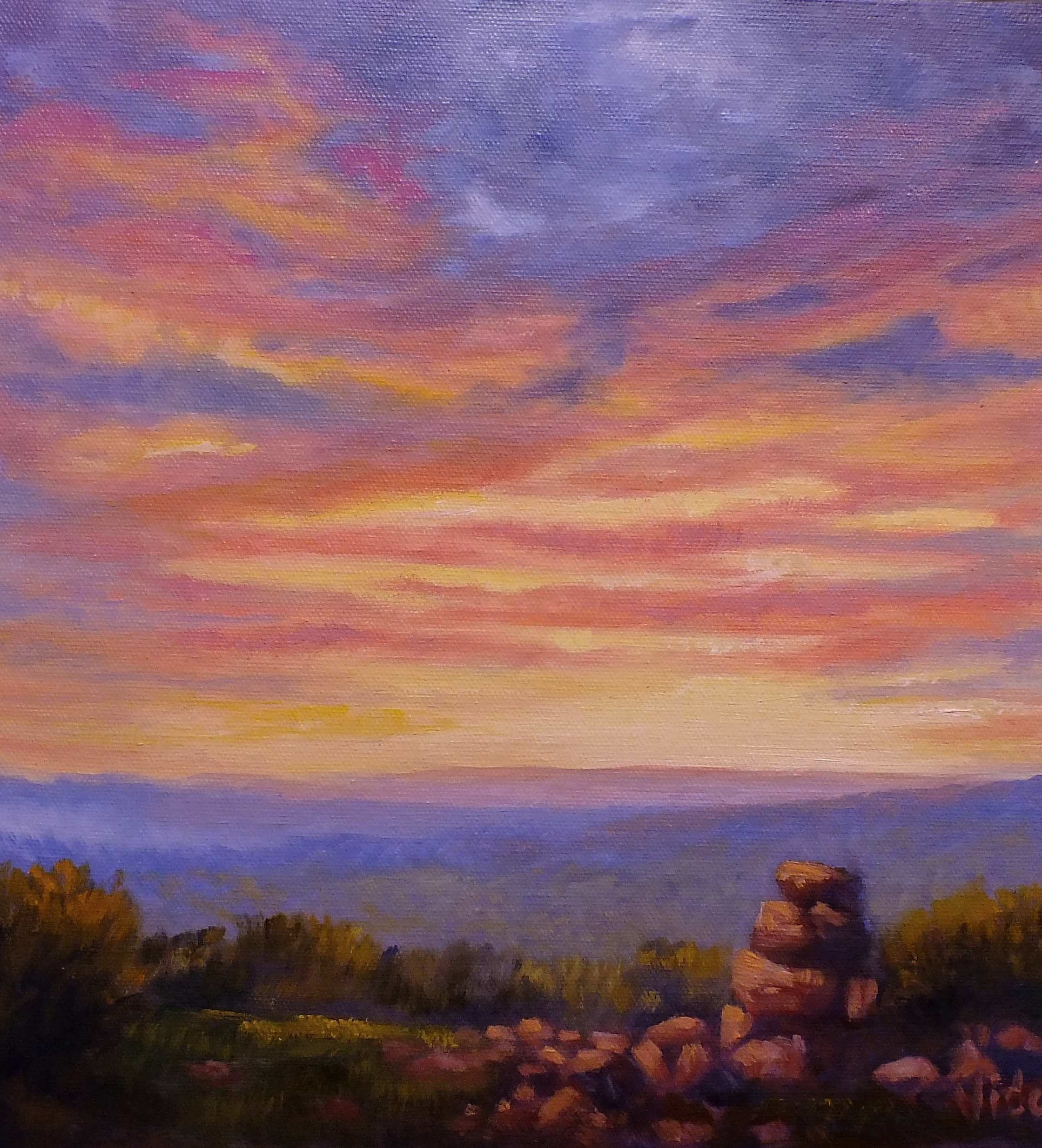 Sunset Sky- Oil Painting for Beginners