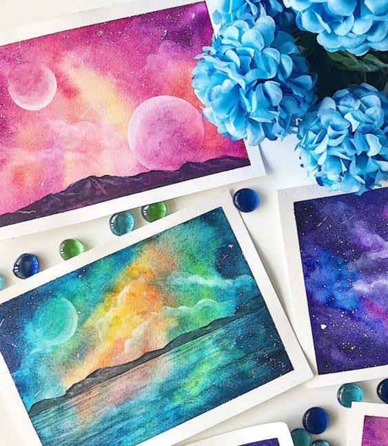 Galaxy Watercolours