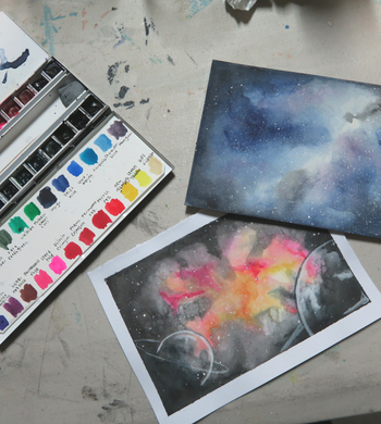 Galaxy Watercolour Painting