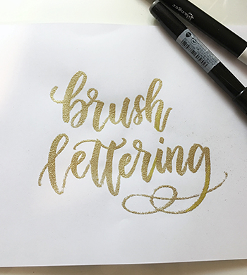 Brush Lettering & Embossing