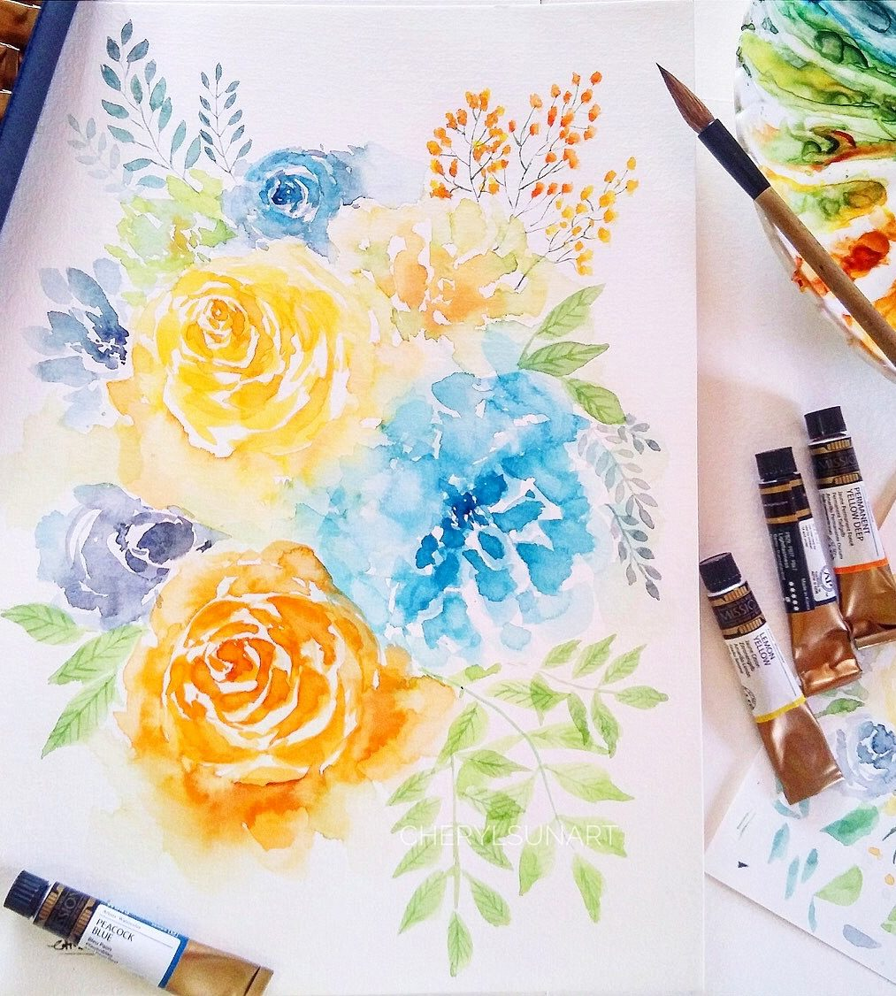 Craft On Commons: Expressive Watercolour Florals