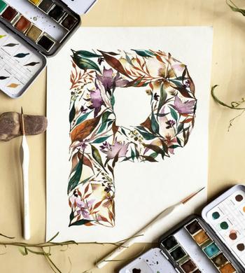 Contemporary Floral Watercolour: Paint a Drop Cap