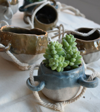 Hand Built Ceramic Planter Pots