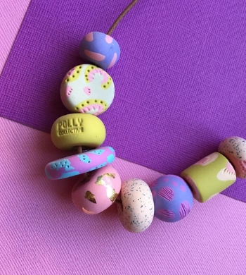 Polymer Clay Jewellery: Beads & Necklaces