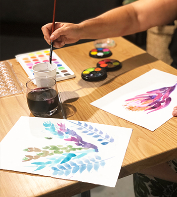 Watercolour & Wine!