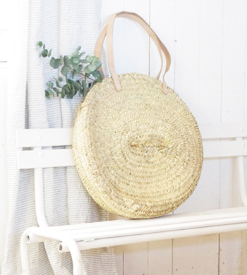 Make A Round Raffia Bag