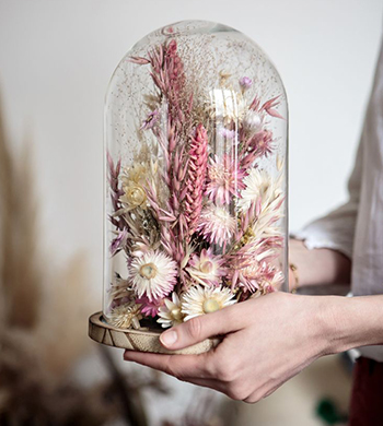 Make A Dried Flower Dome