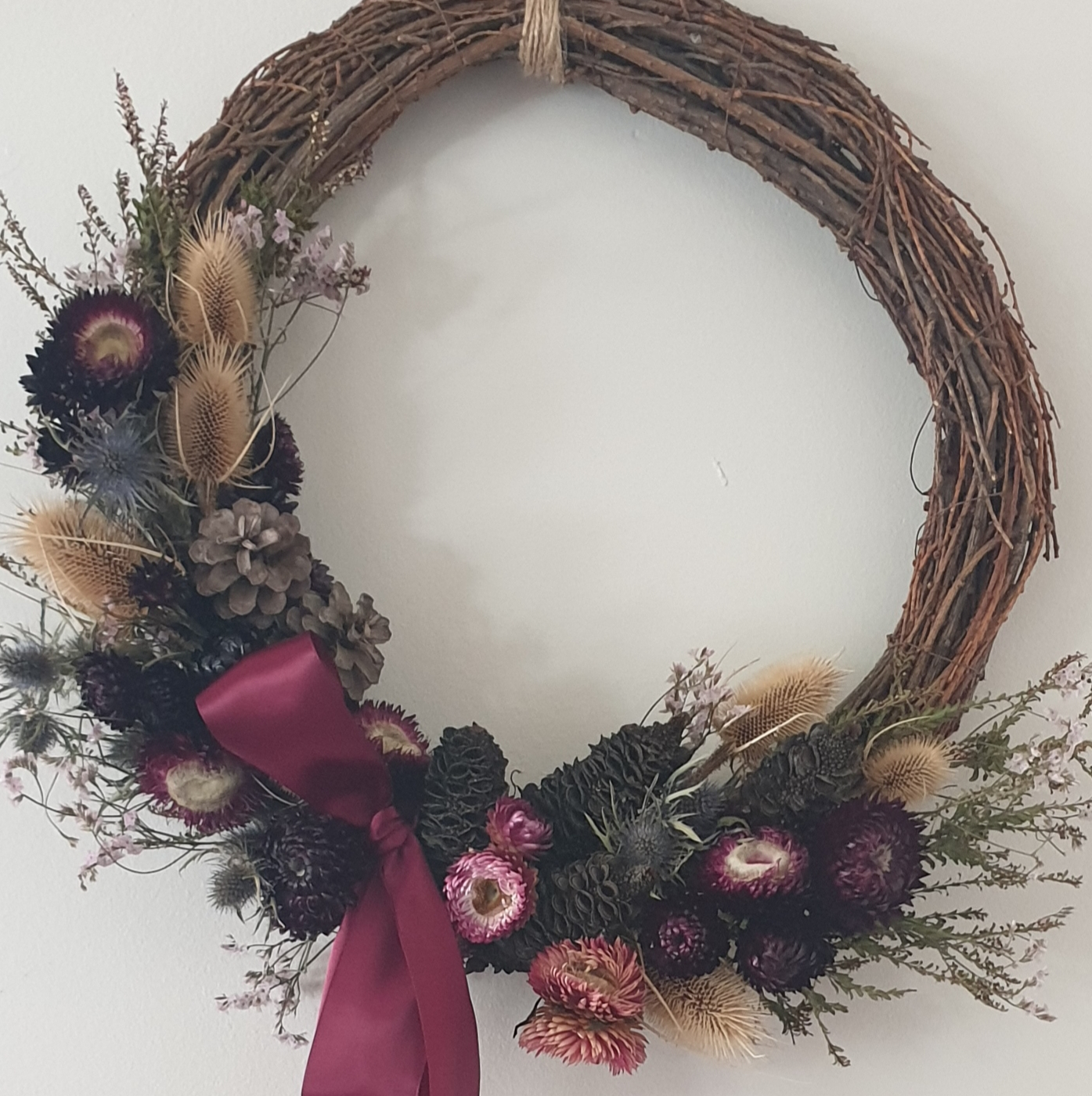 Festive Floral Wreath Making