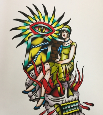 Traditional Flash Tattoo Illustration