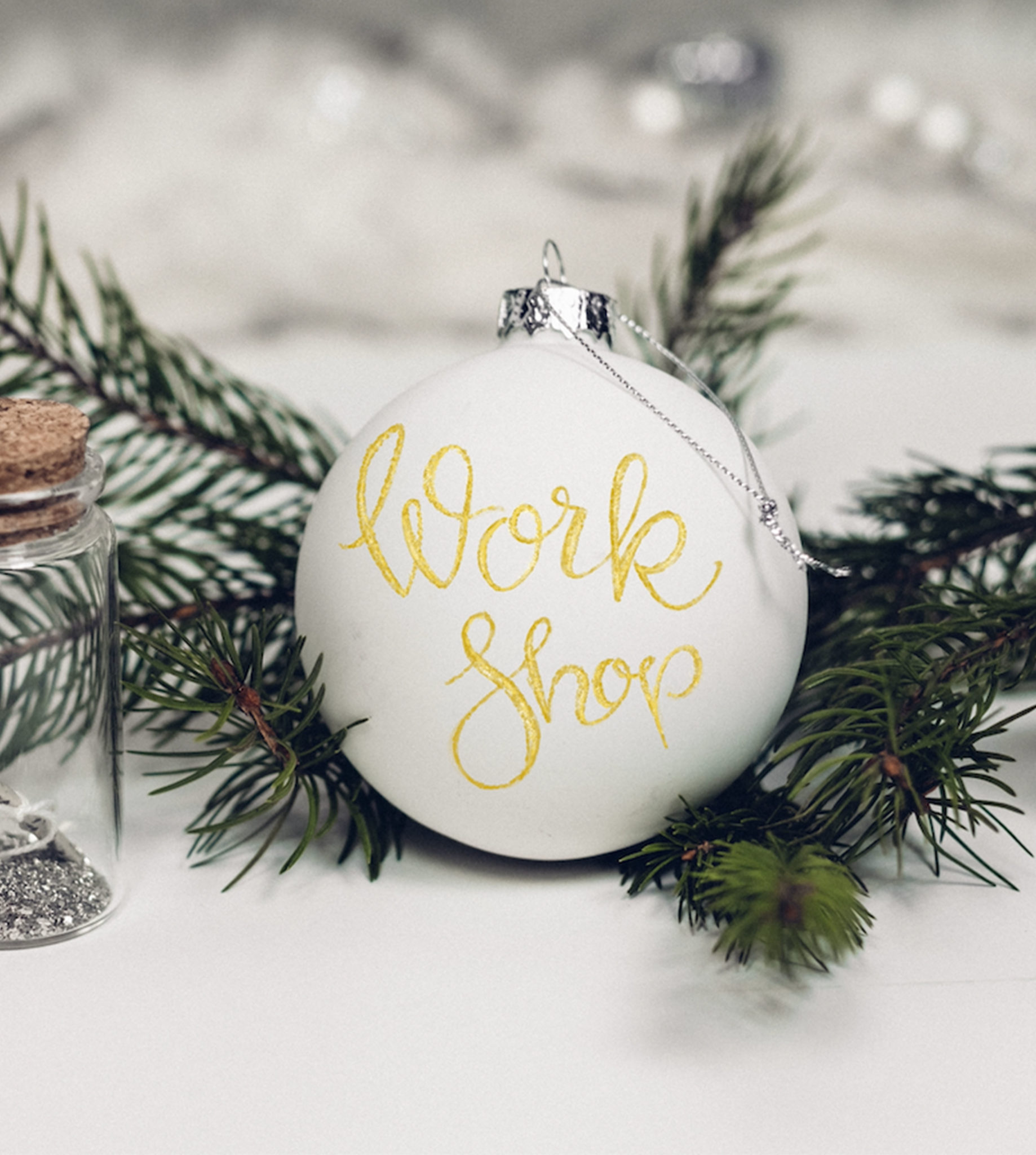 Christmas Calligraphy: Hand-lettered Baubles