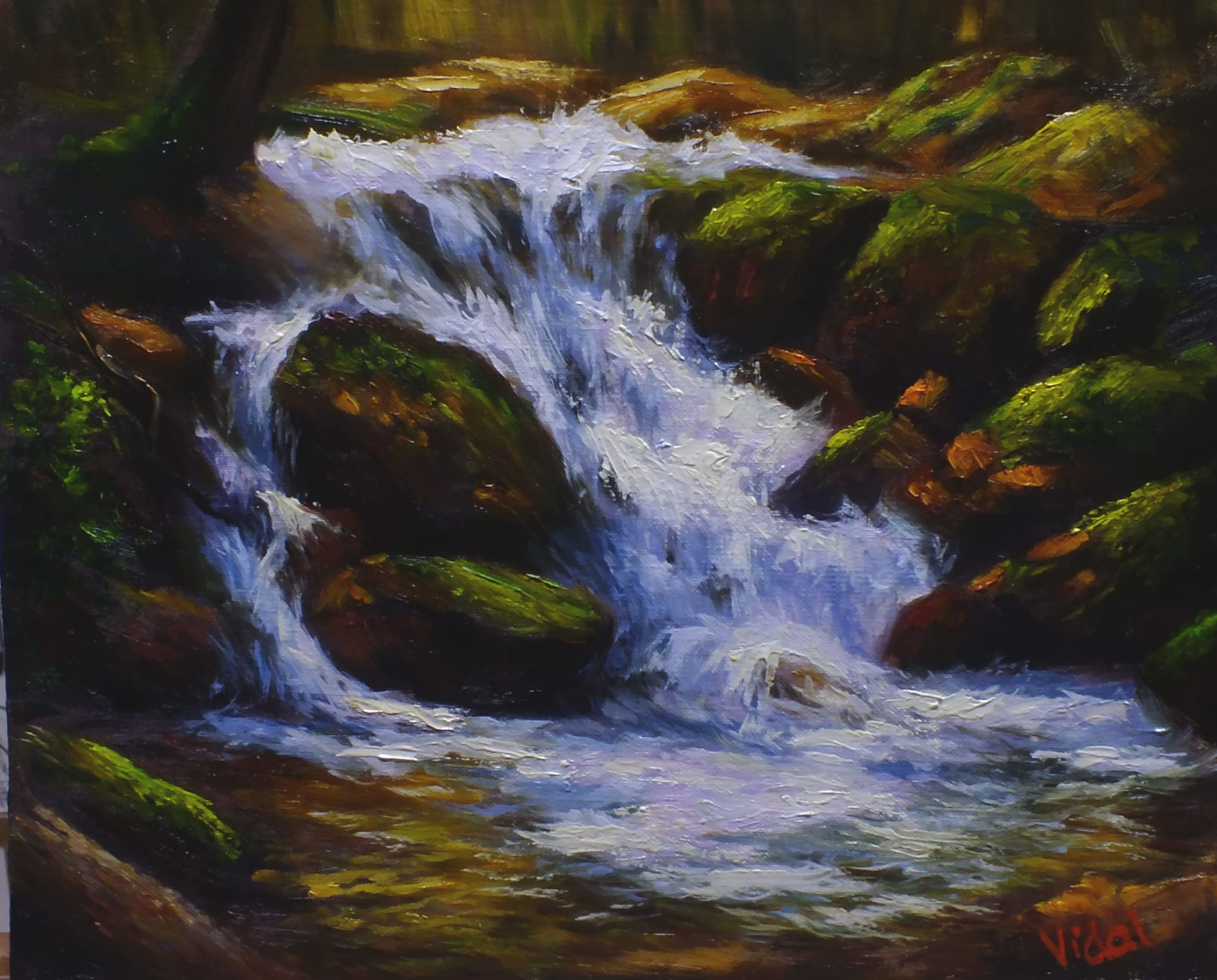 Waterfalls – Oil Painting For Beginners