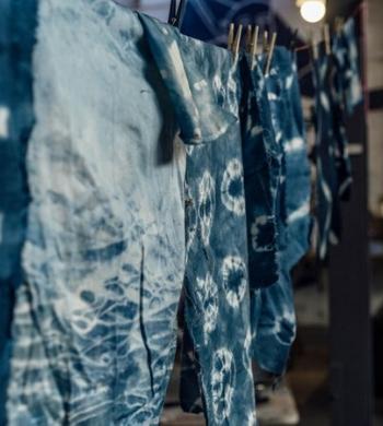 Indigo Dyeing: Japanese Shibori