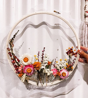 Botanical Embroidery Hoops: Chrissy Edition