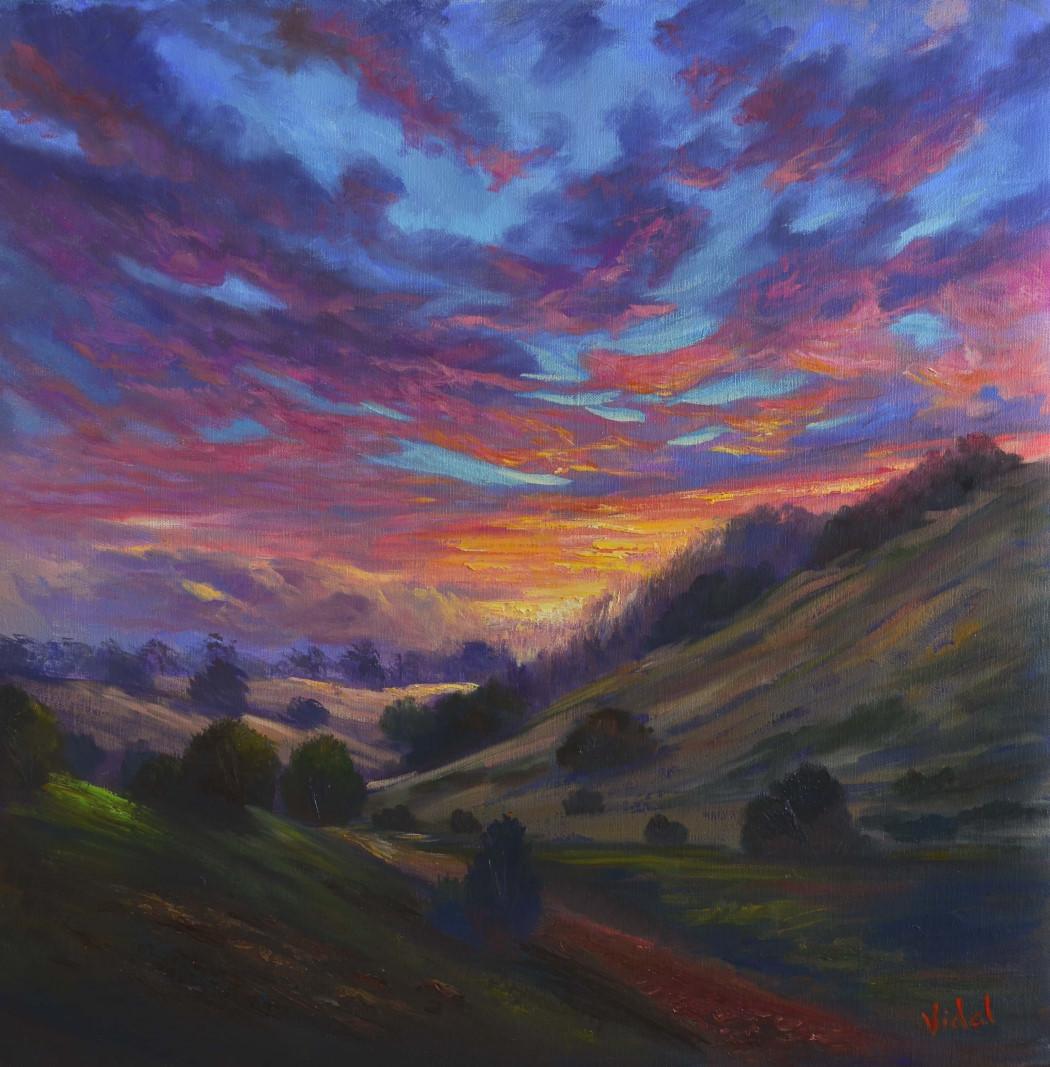 Oil Painting for Beginners – Sunset Sky