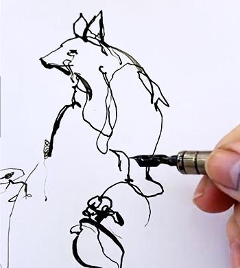 Nib and Ink illustration